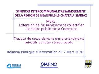Travaux d'extension du réseau public d'assainissement sur la commune de Méré
